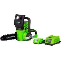 Аккумуляторная цепная пила GreenWorks G24CS25K2