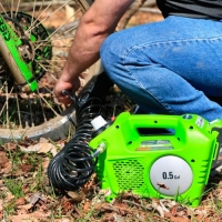 Аккумуляторный воздушный компрессор GreenWorks G24AC