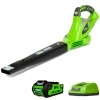 Купить Аккумуляторный воздуходув GreenWorks G40BLK2