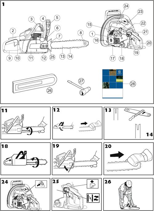 инструкция по эксплуатации бензопилы хускварна 236 - фото 8